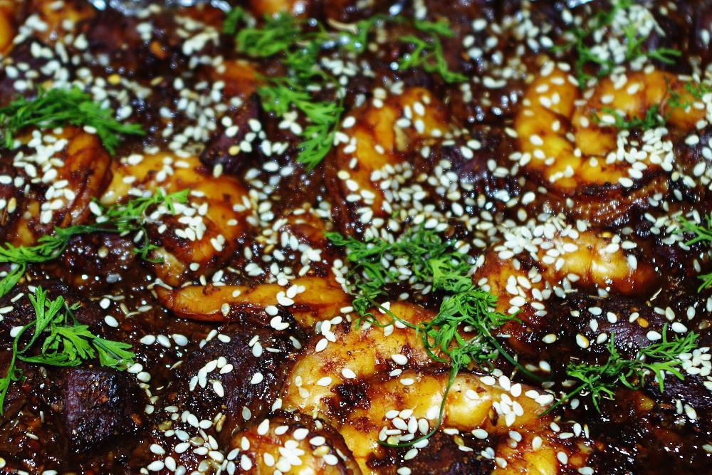 Recette légère et raffinée : canard et crevettes à l'asiatique