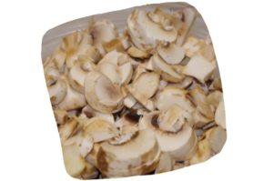 Recette de tortilla aux champignons : morceaux de champignons