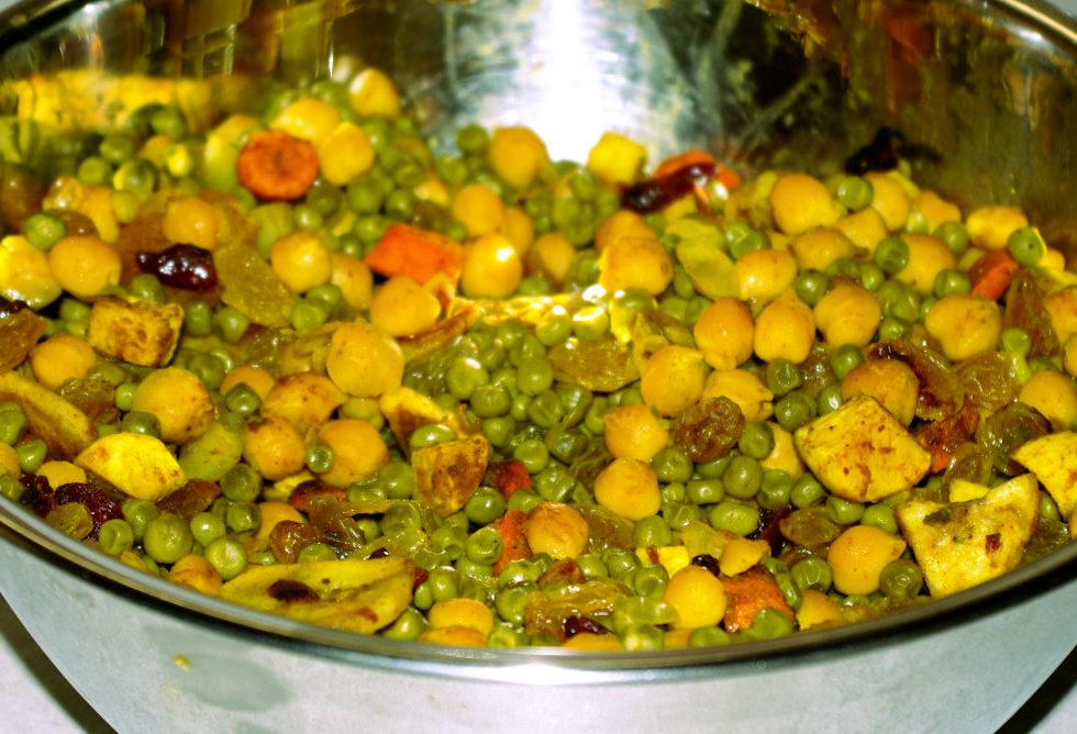 Recette végétarienne de la salade de pois chiches au curry