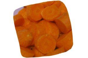 Recette de la purée de pâtes, céleri et carotte pour bébé : rondelles de carotte